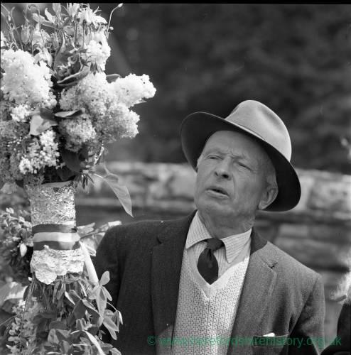 Elderly gentleman on the Heart of Oak Walk in Fownhope in 1969.