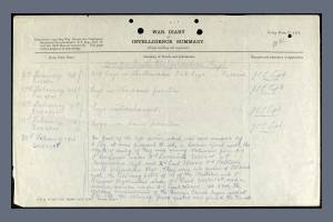 War Diary for South Staffordshire Regiment on 20 February 1915  - William Sorrell