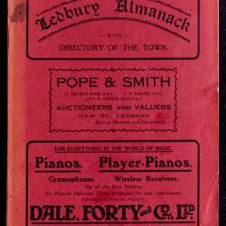 Tilley's Ledbury Almanack 1930