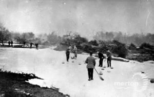 Wimbledon Common: Curling on the Frozen Ponds
