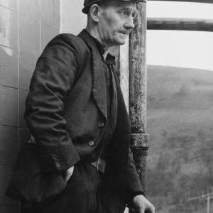Side portrait of a Welsh Miner