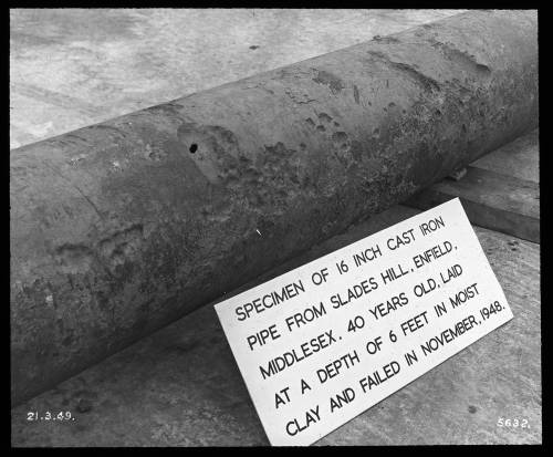 """16"""" graphitic pipe at Enfield"""