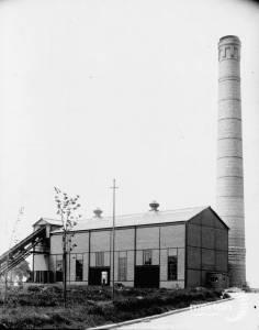 Rubbish depot in Garth Road, Lower Morden