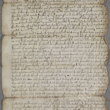 Bonds, discharges and payments, 1675-1700