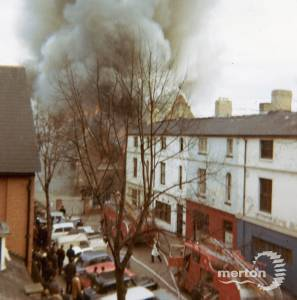 Fire at St. Mark's Church Wimbledon, 1966