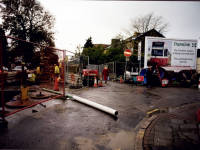 Tramlink roadworks, Kingston Road & Hartfield Road