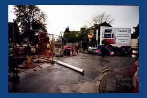 Tramlink roadworks, Kingston Road & Hartfield Road