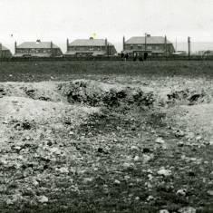 Bomb Crater in  Battery Field, Westoe.