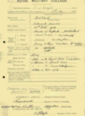RMC Form 18A Personal Detail Sheets Jan & Aug 1931 Intake - page 14