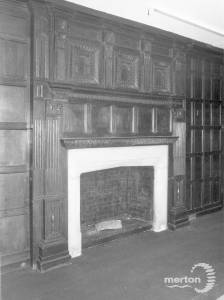 Cannizaro House, Wimbledon: Wooden pannelling and period fireplace