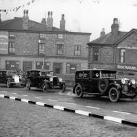 Bootle, Canal Bridge, Irlam Road, 1930s. A motorcade passing through.