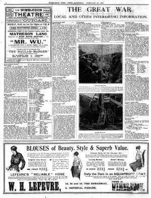 27 FEBRUARY 1915