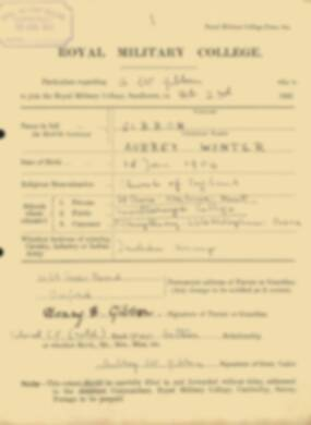 RMC Form 18A Personal Detail Sheets Feb & Sept 1922 Intake - page 49