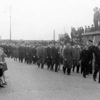Civilian Defence Workers at Bootle Victory Parade in 1945