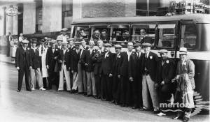 A charabanc outing from the Gorringe Park Hotel, Mitcham