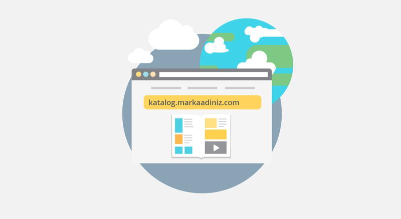 Alan Adı Özelleştirme: Alan adınızı özelleştirerek dijital kataloglarınızın markanızın url'i altında yayınlayın, kullanıcılarınıza daha etkileyici bir deneyim yaratın.
