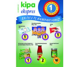 Kipa Express - En iyi 1 TL kampanyası 10 Ağustos  2017 Kataloğukatalog, kampanya