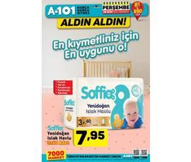 Soffio Yenidoğan Islak Havlu 3'lü paketleri 26 Ekim Perşembe günü tüm A101 marketlerinde!katalog, kampanya