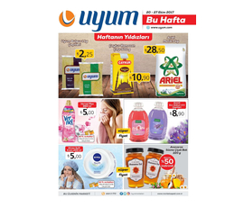 Uyum Market 20 Ekim 2017 Haftanın Yıldızları katalog, kampanya