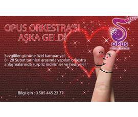 Sevgililer gününe özel kampanya !, Opus Müzik Grupları, Denizli - Merkezefendi