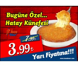 Hatay Künefesi YARI FİYATINA !, Isos Döner , Denizli - Pamukkale