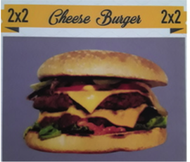 2x2 Cheese Burger 15 TL, Mia Coffee & Burger, Denizli - Pamukkale