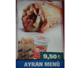 Ayran Menü 9,50 TL!, Zater Antakya Döner, Denizli - Pamukkale