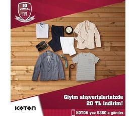 Fiatlı'lara Özel Koton.com'dan 120₺ ve üzeri alışverişlere 20₺ İndirim, Fiat, İstanbul - Şişli