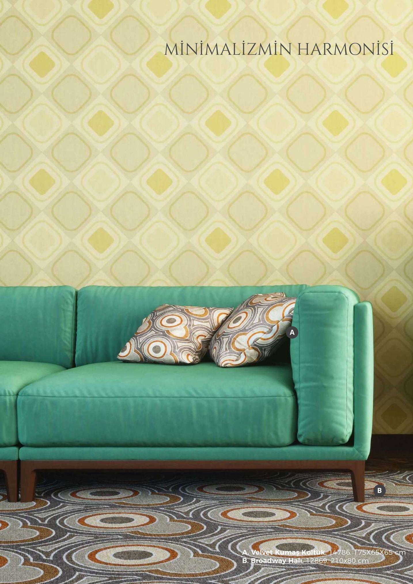 minimalizmin harmonisi velvet kumaş koltuk4786