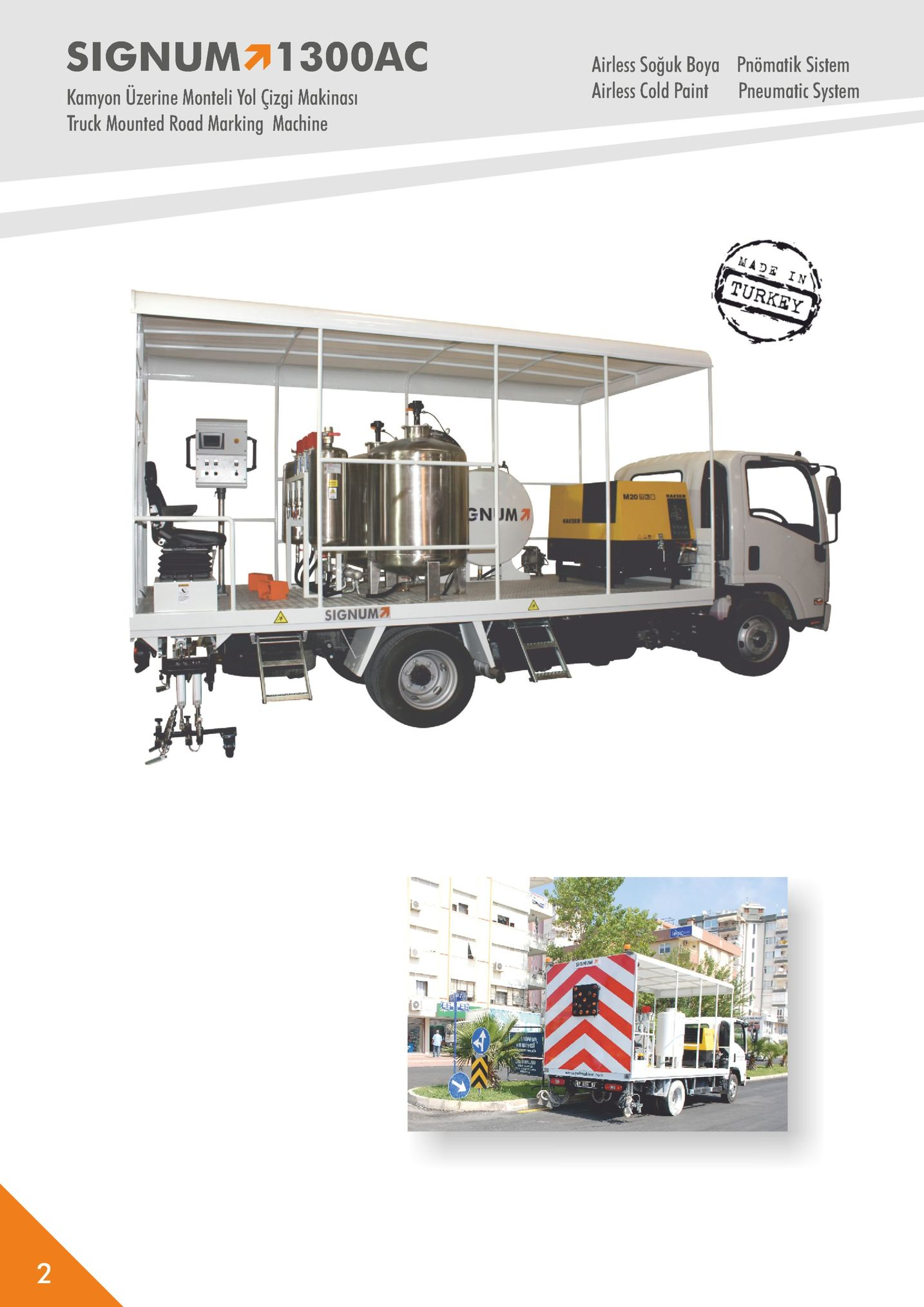signum71300ac airless soğuk boya airless cold paint pnömatik sistem pneumatic system kamyon uzerine monteli yol çizgi makinas truck mounted road marking machine turkey n jma aise asignum7