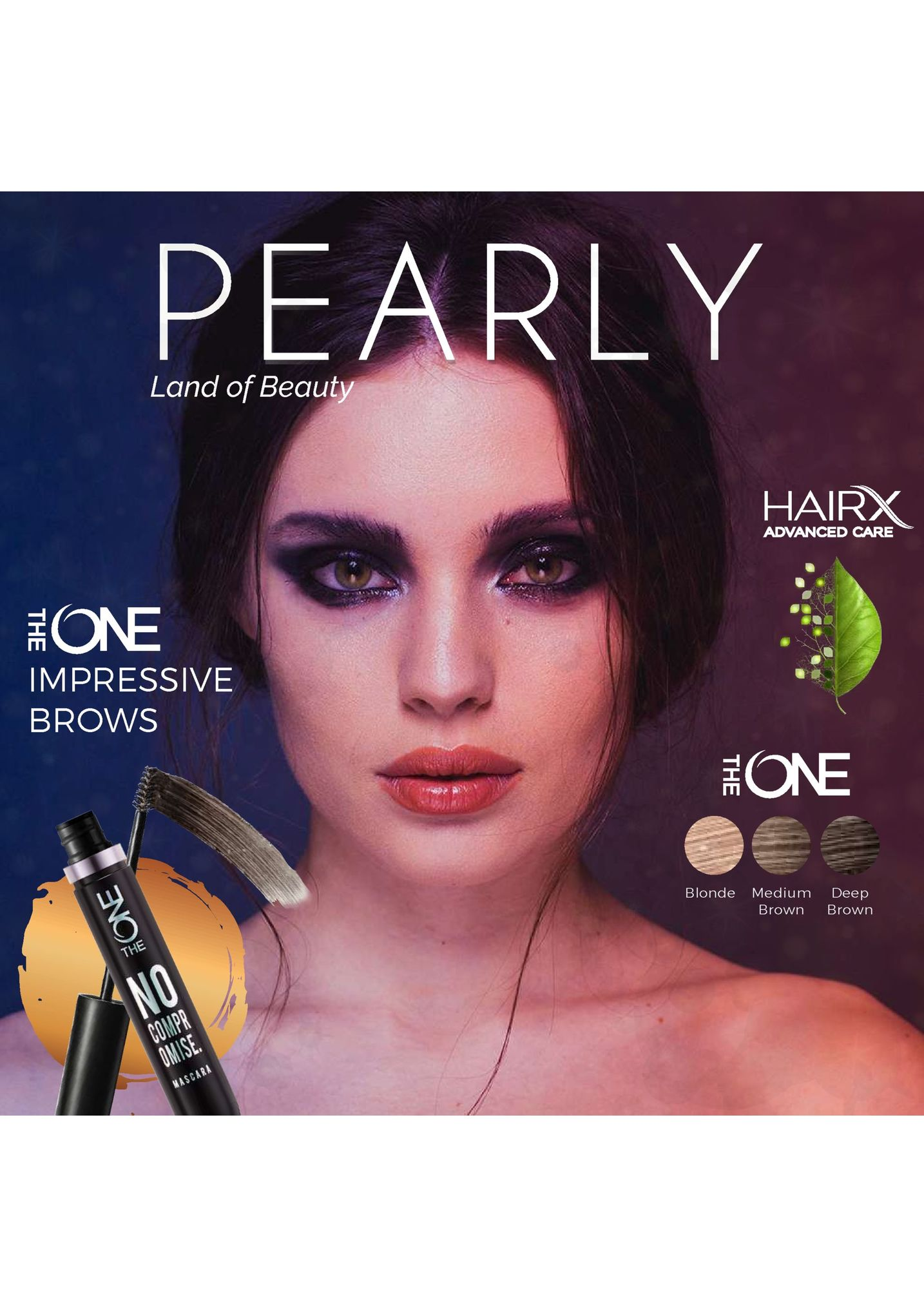 pearly land of beauty hairx advanced care one impressive brows hone blonde medium deep brown brown