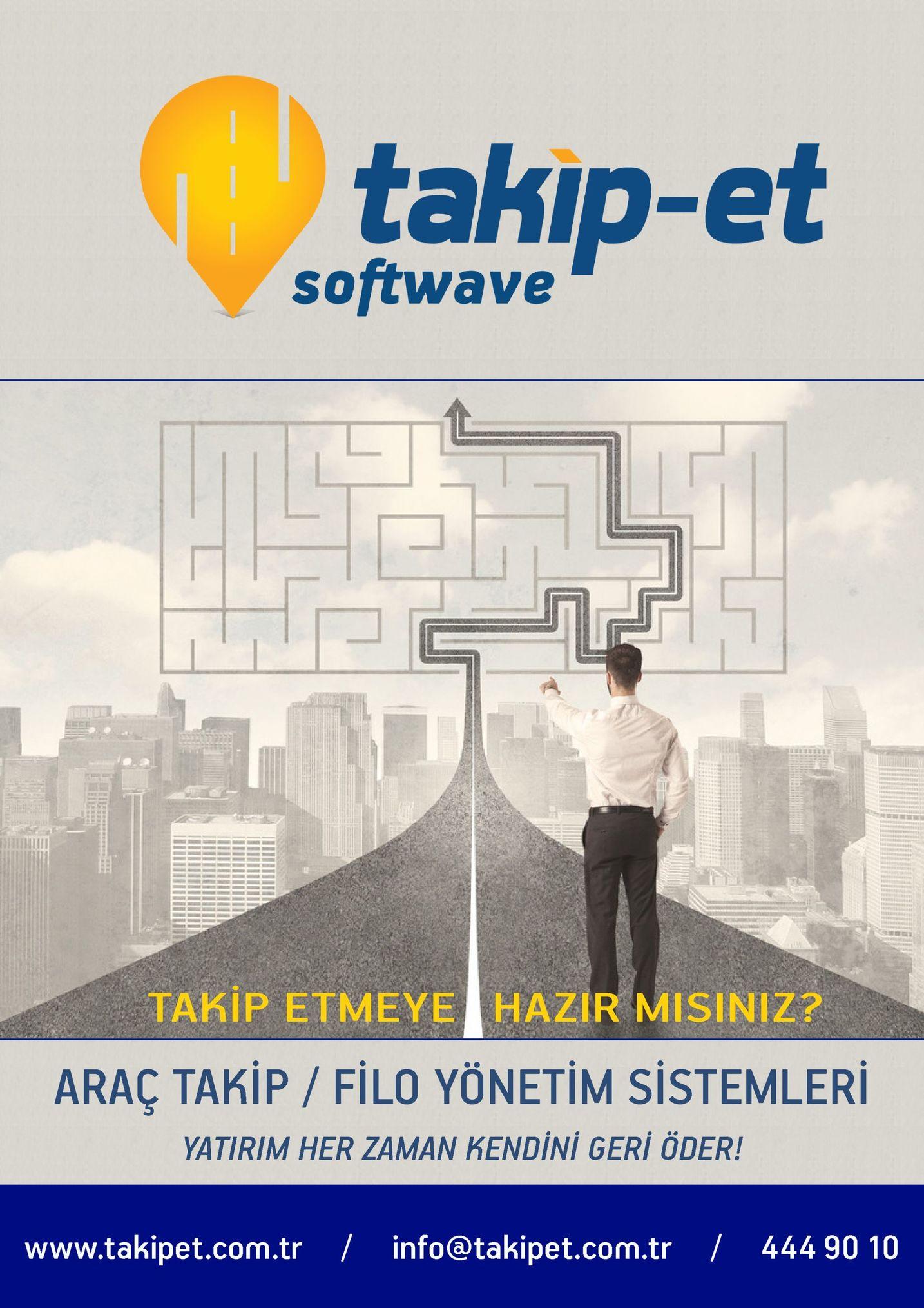 takip-et softwave takip etmeye hazir misiniz? araç takip / filo yönetim sistemleri yatirim her zaman kendini geri öder! www.takipet.com.tr / info@takipet.com.tr 444 90 10