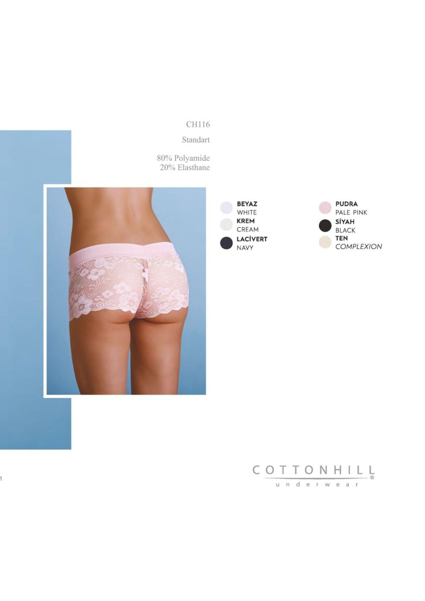 ch116 standart 80% polyamide 20% elasthane beyaz white krem cream lacivert navy pudra pale pink siyah black ten complexion cottonhill under w ea r