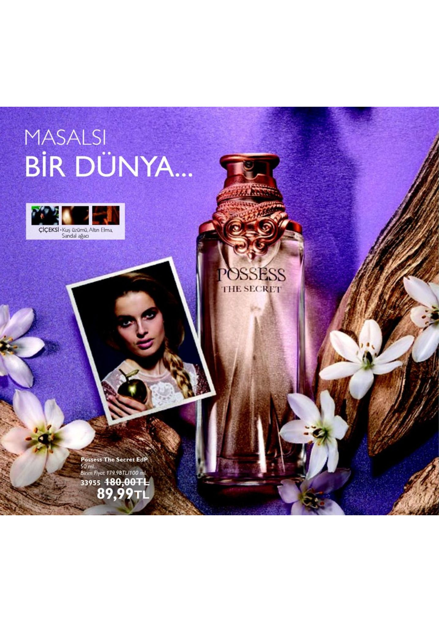 masals bir dünya çiçeksi. kuş üzümü, altin elma, ssess the secret possess the secret edp 50 ml birim fiyat 179.98tl/100 m 89,99tl