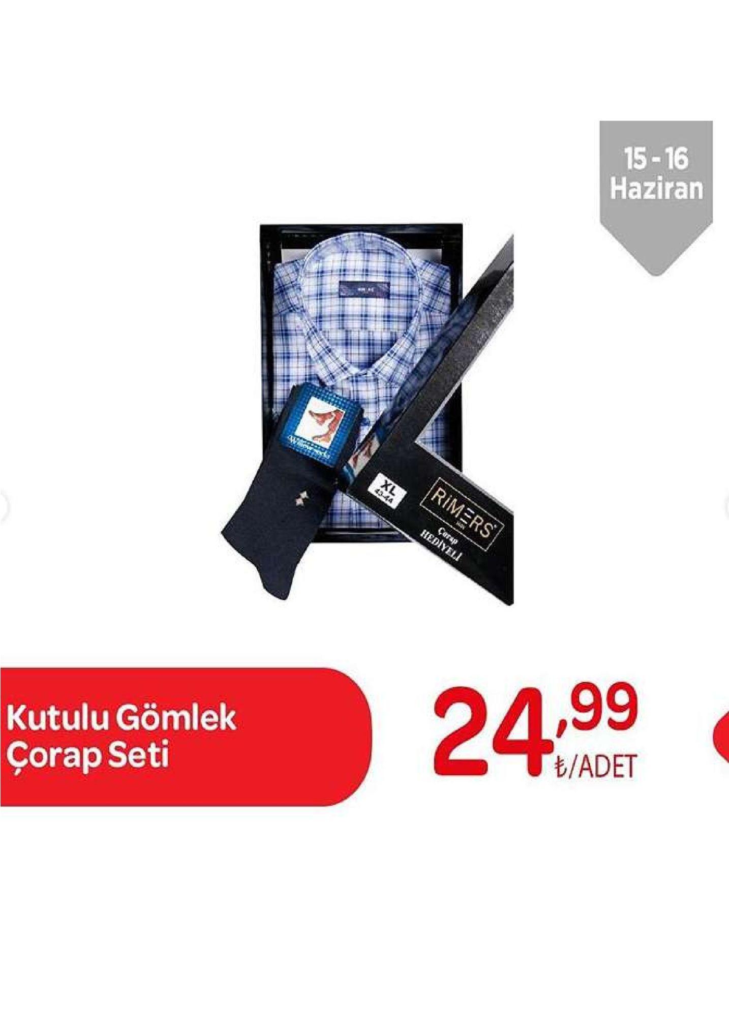 15-16 haziran rimers xl 4344 carap rediyeli 1,99 24.99 t/adet kutulu gömlek çorap seti