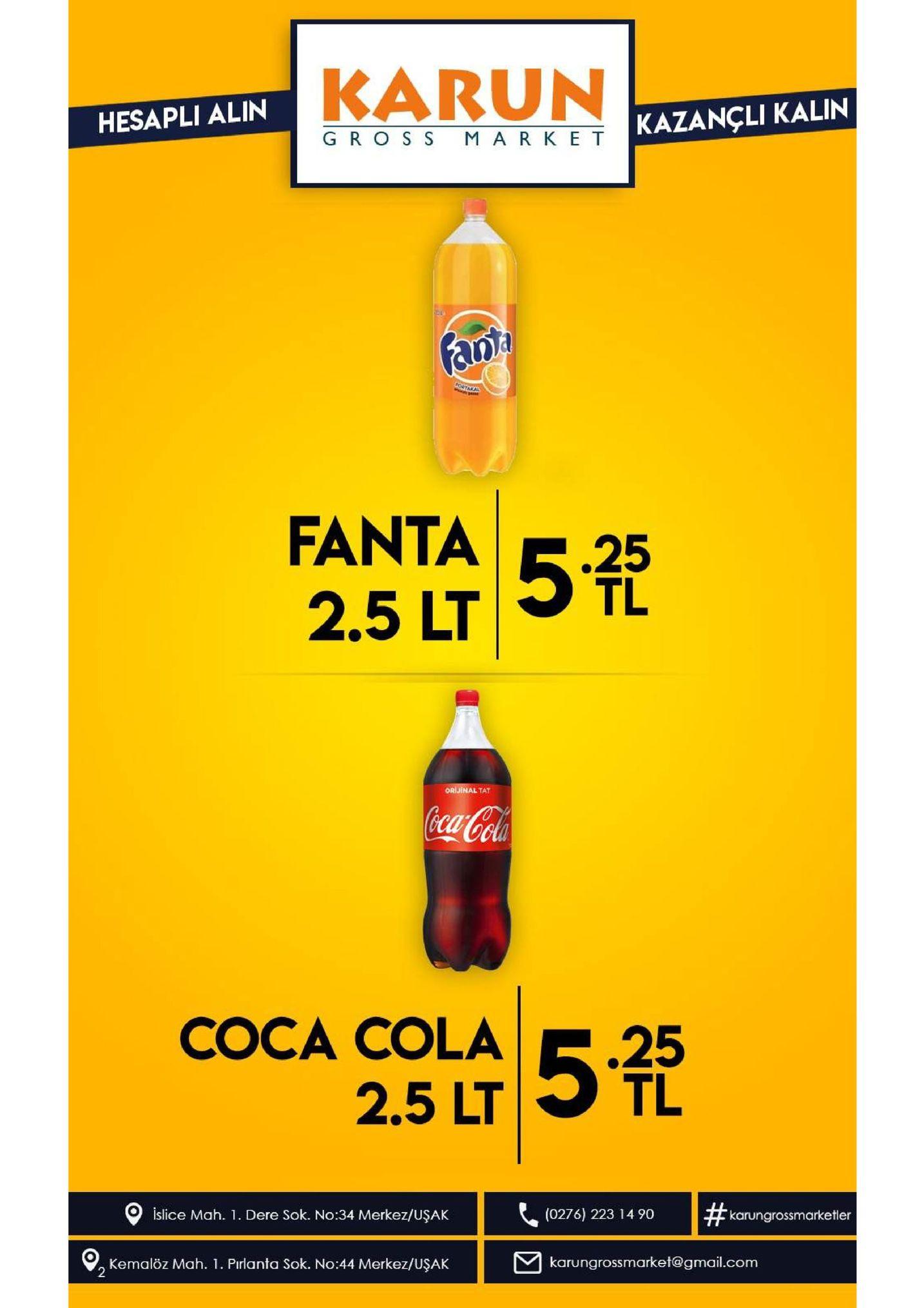 karun kazancli kalin hesapli alin gros s mark e t fanty poatakal ease fanta52 .25 2.5 lt orijinal tat coca-cola 5fh coca cola .25 tl 2.5 lt | # islice mah. 1 dere sok. no:34 merkez/uşak (0276) 223 14 90 karungrossmarketler karungrossmarket@gmail.com kemalöz mah. 1. pirlanta sok. no:44 merkez/uşak 2