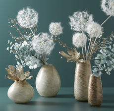 lou_de_castellane_artificielles_artificial_artificiale_fleurs_flowers_fiore_flor_vase_jarron_eucalyptus_pissenlit_dandelion