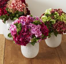 bouquets hortensias