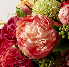 bouquet corail zoom