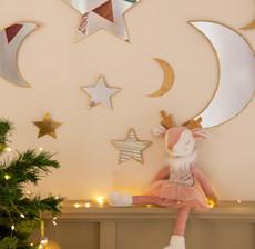 amadeus les petits_renne_peluche_miroir_lune_étoile