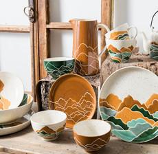 amadeus_mountain_ceramic_plate_table art