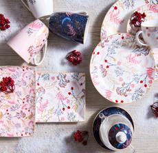 amadeus_table art_plate_mug_foliage