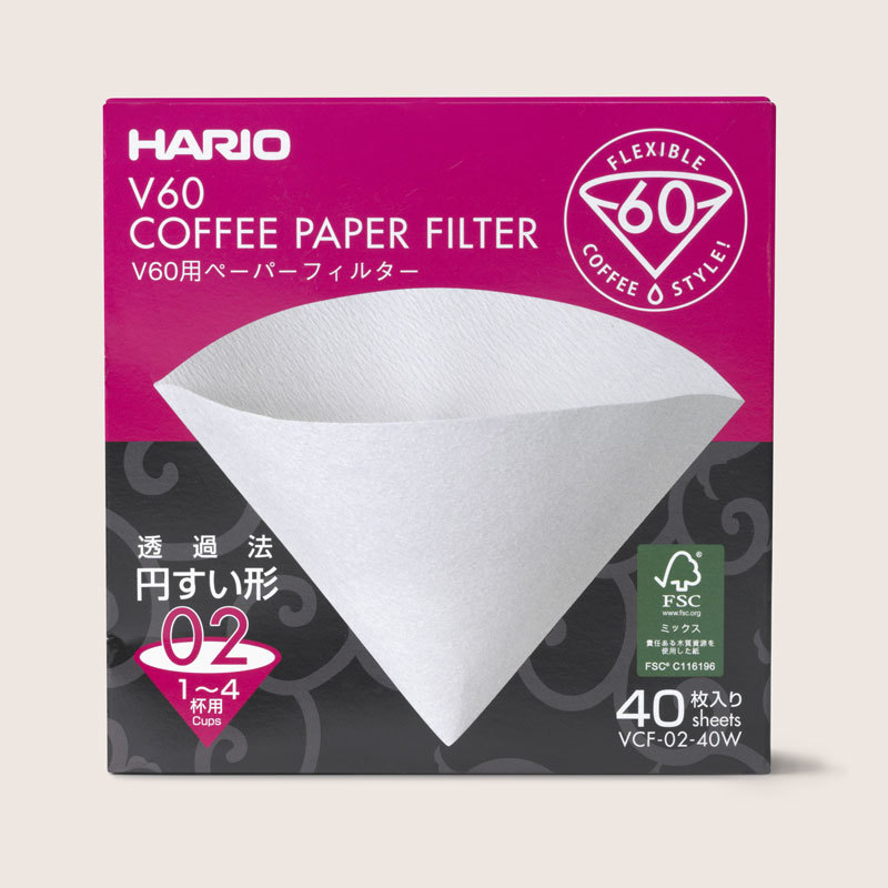 Hario v60 coffee paper filters zoomed in