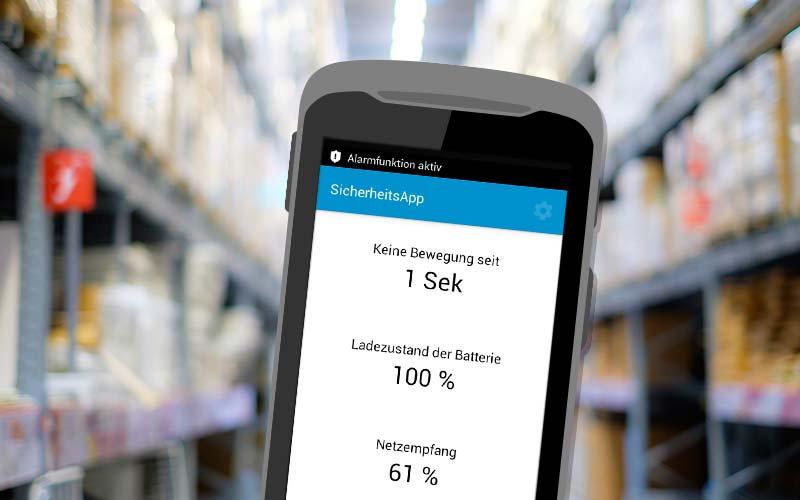 Android-Sicherheitsapp für die Hermes Fulfilment GmbH