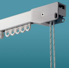 Robust Aluminium Tracks For All Types of Curtains. Can be made in any RAL colour of your choice