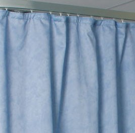 Made to measure flame retardant cubicle curtains for use in healthcare environments