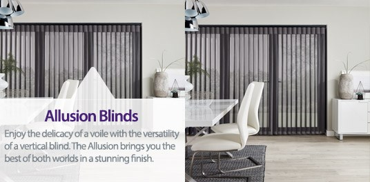 Bespoke, custom made Allusion blinds in Solihull, Birmingham and West Midlands Region