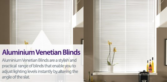 Bespoke,custom made aluminium venetian blinds in Solihull, Birmingham and West Midlands Region