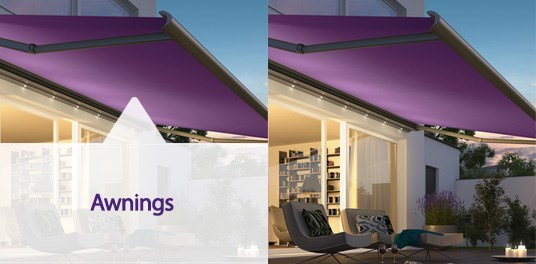 Premier quality awning systems from your local window blind specialist in Solihull