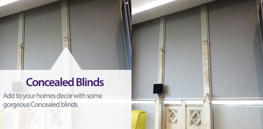 Bespoke,custom made concealed blinds in Solihull, Birmingham and West Midlands Region